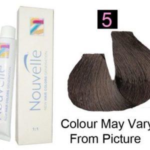 Nouvelle - Permanent Hair Color 5/Light Brown 100ml