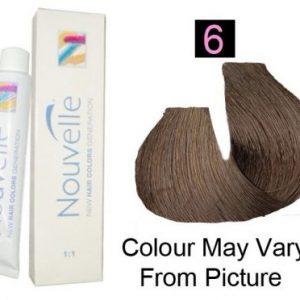 Nouvelle - Permanent Hair Color 6/Dark Blonde 100ml