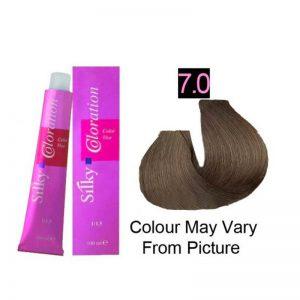 Silky 7.0/7NN Permanent Hair Color 100ml - Intense Blonde