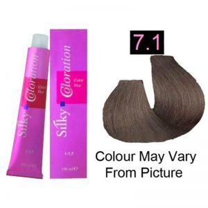 Silky 7.1/7A Permanent Hair Color 100ml - Ash Blonde