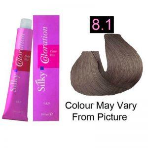 Silky 8.1/8A Permanent Hair Color 100ml - Light Ash Blonde