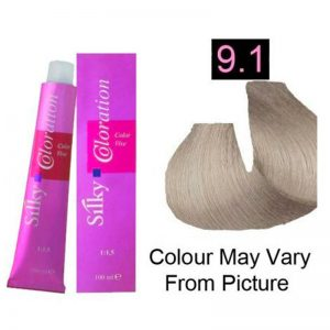 Silky 9.1/9A Permanent Hair Color 100ml - Very Light Ash Brown