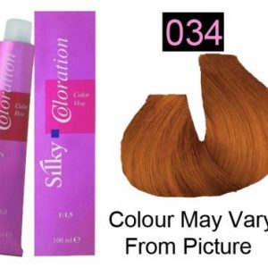 Silky 034/ Golden Copper Permanent Hair Color 100ml