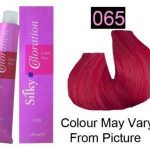 Silky 065/ Red Mahogany Permanent Hair Color 100ml