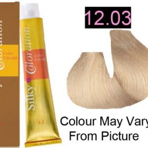 Silky 12.03/12NG Permanent Hair Color 100ml - EXTRA LIGHT NATURAL GOLDEN BLONDE