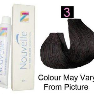 Nouvelle - Permanent Hair Color 3/Dark Brown 100ml