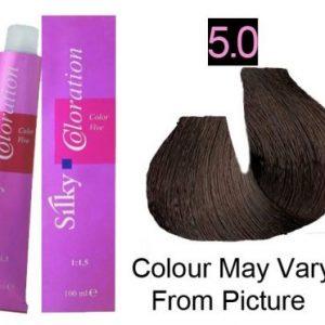 Silky 5.0/5NN Permanent Hair Color 100ml - LIght Intense Brown