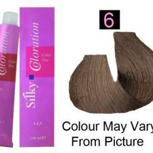 Silky 6/6N Permanent Hair Color 100ml - Dark Blonde