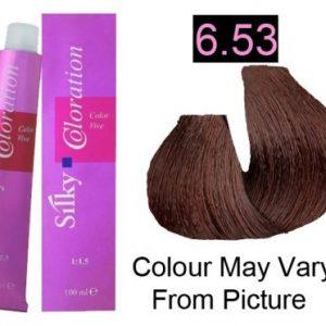 Silky 6.53/6MG Permanent Hair Color 100ml - Dark Mahogany Golden Blonde