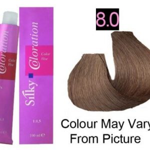 Silky 8.0/8NN Permanent Hair Color 100ml - Light Intense Blonde
