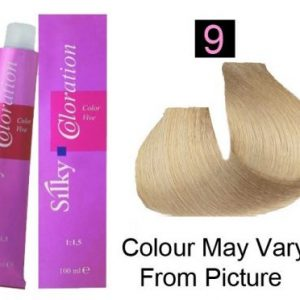 Silky 9/9N Permanent Hair Color 100ml - Very Light Blonde