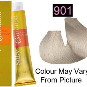 Silky 901 Permanent Hair Color 100ml - ULTRA LIGHT ASH BLONDE