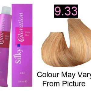 Silky 9.33/9GG Permanent Hair Color 100ml - Very Light Intense Golden Blonde