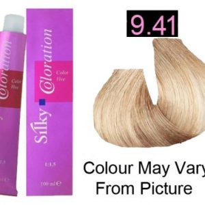 Silky 9.41 Permanent Hair Color 100ml - Extra Light Ash Cooper Blonde