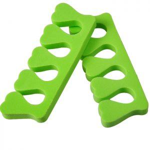 Toe Separators bulk of 40 pcs - lime green