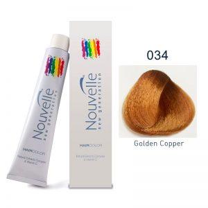 Nouvelle - Permanent Hair Color 034 - Golden Copper