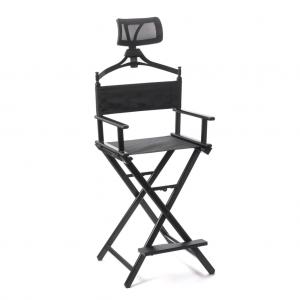 Makeup Chair with Headrest Black CH-YHC002