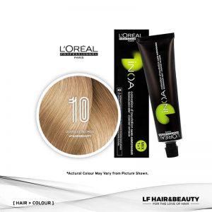 Loreal iNOA Permanent Hair Color 10 Fundamental Lightest Blonde 60g
