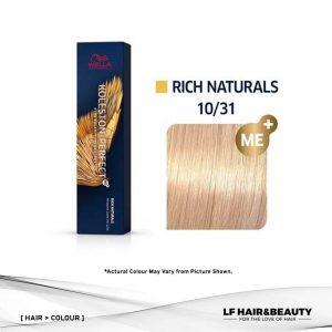 Wella Koleston Perfect Permanent Cream 10/31 - Lightest Blonde Gold Ash 60g