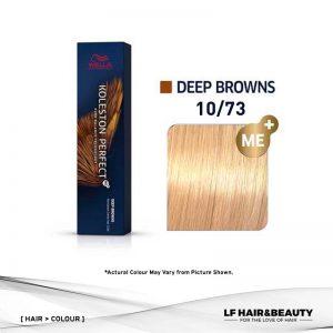 Wella Koleston Perfect Permanent Cream 10/73 - Lightest Blonde Brown Gold 60g
