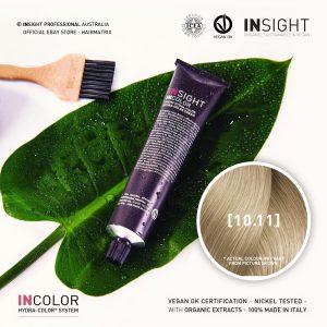 Insight INCOLOR Hydra-Color Cream [10.11] Deep Ash, Extra Light Blond 100ml