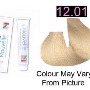Nouvelle - Permanent Hair Color 12.01 Ultra Light Ash Blonde Plus 100ml