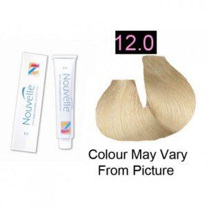 Nouvelle - Permanent Hair Color 12.0 Polar Blonde 100ml