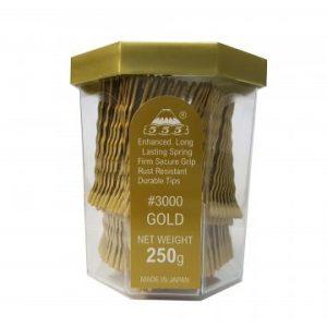 555 - Bobby Pins 2'' Gold 250g