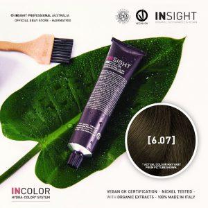 Insight INCOLOR Hydra-Color Cream [6.07] Ice Chocolate, Dark Blond 100ml