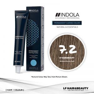 Indola Permanent Caring Color 7.2 Medium Blonde Pearl 60ml