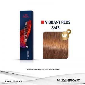 Wella Koleston Perfect Permanent Cream 8/43 Light Blonde Red Gold 60g