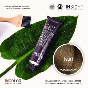 Insight INCOLOR Hydra-Color Cream [8.0] Natural Light Blonde 100ml