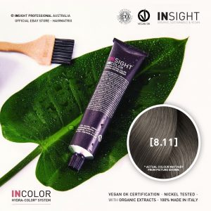 Insight INCOLOR Hydra-Color Cream [8.11] Deep Ash, Light Blond 100ml