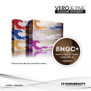 Joico Vero K-PAK Age Defy 8NGC+ Permanent Color - Medium Natural Golden Copper Blonde 74ml