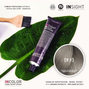 Insight INCOLOR Hydra-Color Cream [9.1] Ash, Very Light Blond 100ml