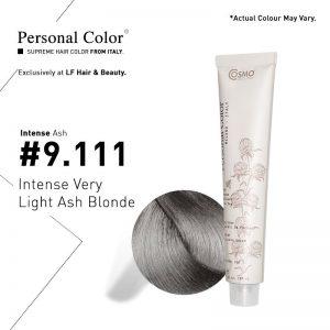 Cosmo Service Personal Color Permanent Cream Intense Ash 9.111 - Intense Very Light Ash Blonde 100ml