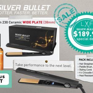 Silver Bullet Keratin 230 Ceramic Wide Plate (38mm) *free gift - MaxCare Oil