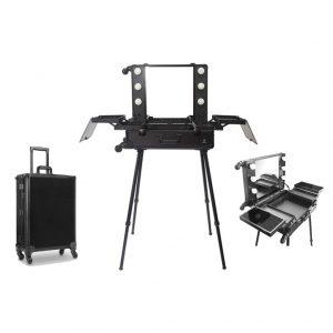 Makeup Case Trolley Black CH-AM9342