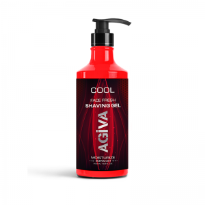 Agiva Cool Face Fresh Shaving Gel Moisturize Impacat Red 500ml
