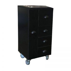 Black Hair Dressing Trolley - CH 2863