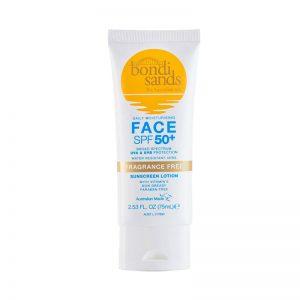 Bondi Sands Face SPF 50 Sunscreen Lotion Fragrance Free 75ml