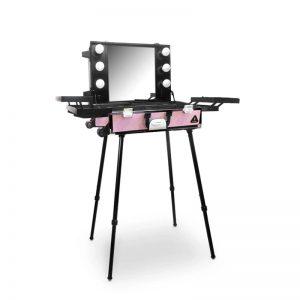 Makeup Case Trolley Pink Crystal CH-DB9660B