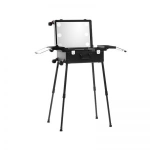 Makeup Case Trolley Black With LED Lights CH - TR9664B-W