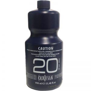 Color Design 20vol (6%) Oxidizing Emulsion Cream 990ml