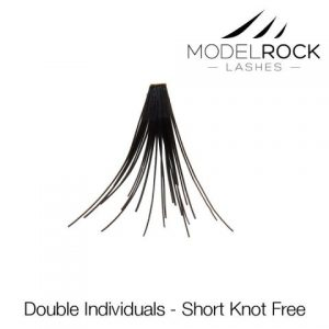 MODEL ROCK LASHES Double Style Individual lashes - Long Knot Free