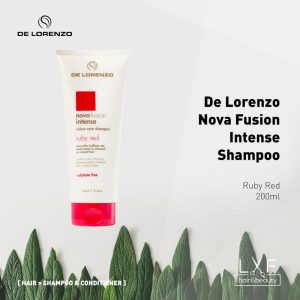 De Lorenzo Nova Fusion Intense Colour Care Shampoo 200ml - Ruby Red