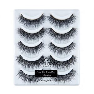 Model Rock Lashes Kit - Paint The Town Red (5 Pair Lash Pack)