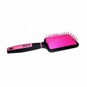 Hot Pink & Black Paddle Hair Brush