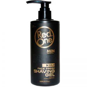 Red One (RedOne) Men Professional Face Fresh Shaving Gel 500ml - Gold
