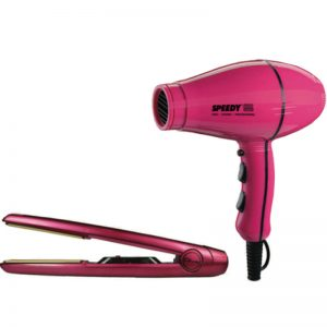 Speedy 5000 Compact Ionic Ceramic Dryer and Diva MKII Pink